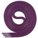 Di Ficchiano-SW-03-violet-80 gewachste runde Schnürsenkel, Schuband, Laces, Durchmesser 2-4 mm für Businessschuhe, Anzugschuhe und Lederschuhe