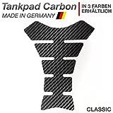 Motoking Tankpad 'CARBON CLASSIC' Tankaufkleber, Tankschutz, Lackschutz, Aufkleber Pad für Motorrad Tank - in 3 Farben erhältlich - SCHWARZ