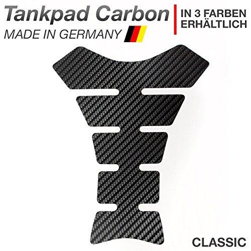 """Motoking Tankpad \""""CARBON CLASSIC\"""" Tankaufkleber, Tankschutz, Lackschutz, Aufkleber Pad für Motorrad Tank - in 3 Farben erhältlich - SCHWARZ"""
