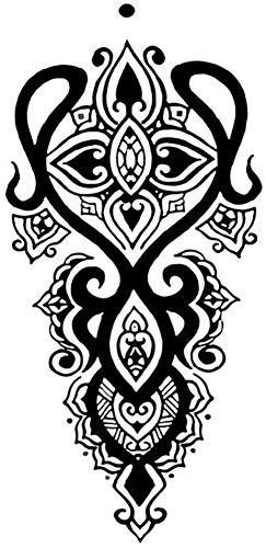 Tatuajes temporales de flores mandalas tribales para hombre y mujer, tatuaje temporal, 19 x 10 cm