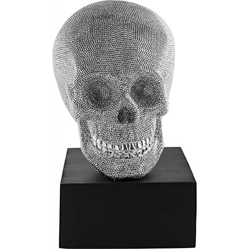 Kare 23210 Decorative Head Rock Star by GEISS Accessories, Polyresin, Marble Base/Silver/Black 22 x 35 x 52 cm - Best Price