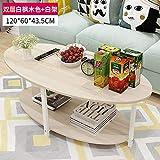 Wohnzimmer Teetisch, kleiner runder Tisch einfache Wohnzimmer Tee Tisch, zwei Schichten aus weißen Ahorn weißen Regal.