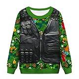 YSFWL Weihnachten Things Pullover Damen Hoodie 3D-Druck Weihnachtsmotive Heiligabend Kapuzen...