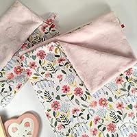 Pack Manta 100x70 cms Otoño rosado + Mantita de Apego