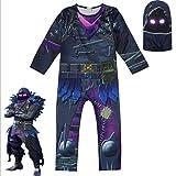 RXF Skull Trooper Skin Decoration Boys Character Clown Vestiti Cosplay Costume Adulto di Zentai di Spandex per Bambini in Costume da Teschio di Halloween (4, 130)