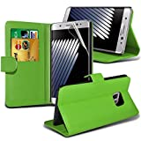 FONETIC Lösungen ® Samsung Galaxy Note 8 Wallet Fall & LCD Displayschutzfolie grün PU Leather Wallet Case + LCD Screen Protector (Green)