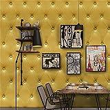 Quaan 3D Jahrgang Leder strukturiert Tapete PVC Wandgemälde Realistisch Aussehen Wasserdicht Schlafzimmer Dekor DIY Mauer Aufkleber Zuhause Küche Möbel Spiegel Windows Tür Gemälde (300cm x 40 cm, F)