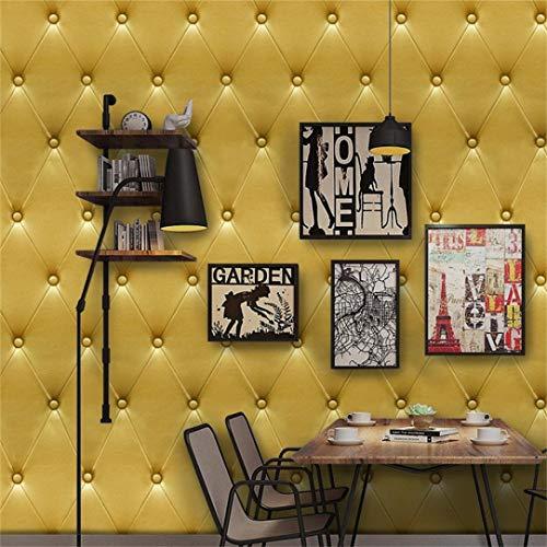 (Quaan 3D Jahrgang Leder strukturiert Tapete PVC Wandgemälde Realistisch Aussehen Wasserdicht Schlafzimmer Dekor DIY Mauer Aufkleber Zuhause Küche Möbel Spiegel Windows Tür Gemälde (300cm x 40 cm, F))