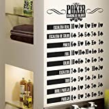 vinilo decorativo mano poker . Color negro. Medidas: 55x95cm