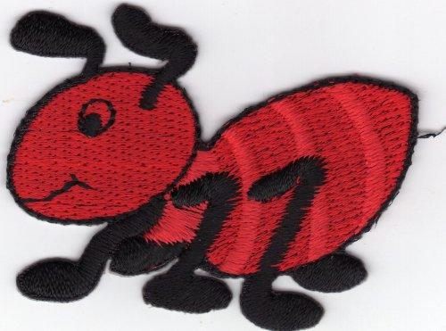 aufnaher-bugelbild-applikation-iron-on-patches-ameise-termiten-insekt-rot