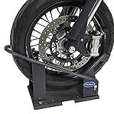 Radklemme Basic - Mattschwarz | Motorradwippe Transportständer Montageständer für Anhänger Radhalter Vorderradklemme
