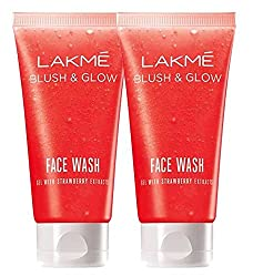 Lakme Clean Up Strawberry Face Wash 100g (Pack of 2)