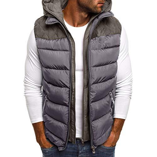 ODRD Herbst Winter Verdicken Weste Mit Kapuze Warm halten Daunen Baumwolle Vest Waistcoat Coat Mit Kapuze S/M/L/XL/XXL/XXXL/XXXXL/XXXXXL -