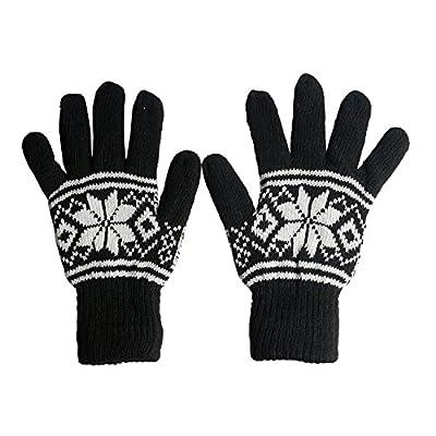 Zacharias Unisex Woolen Gloves Pack of 3 Pair Black