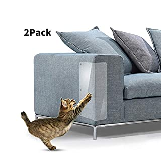 ANGGO 2 PCS Pet Couch Protector Guards Furniture Protectors from Cats for Protecting Your Furniture Cat Scratch Deterrent Cat Couch Protector Scratch Pads (Transparent)