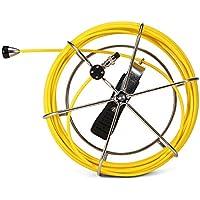 Lixada Cable de Fibra de Vidrio de reemplazo de 20M / 30M / 50M Cable de Repuesto para cámara de inspección de tuberías (20M)