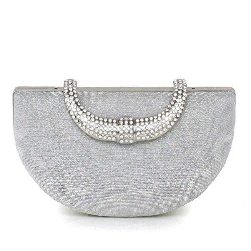 Lady Abendessenbeutel Neue Mädchenhandtasche Abendbeutel Hochzeit Tasche Silver