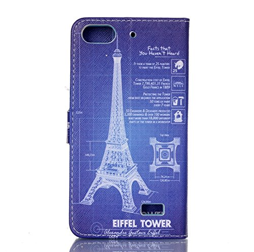 Huawei Honor 4C Case,Huawei Honor 4C Leather Case,Huawei Honor 4C Cover,Flip Wallet case for Huawei Honor 4C,Eiffel Tower Patterned PU Leather Stand Function Protective Cases Covers with Card Slot Holder Wallet Book Design Fordable Magnet Closure Case for Huawei Honor 4C
