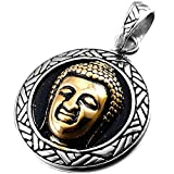Stainless Steel Buddhist Buddha Silver Gold Men's Necklace - Best Reviews Guide