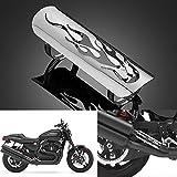 DLLL Coque en acier inoxydable poli avec revêtement chromé pour silencieux d'échappement - Pour cruiser, chopper, bobber, moto Honda, Yamaha, Suzuki, Kawasaki, Harley Davidson - 22,9cm