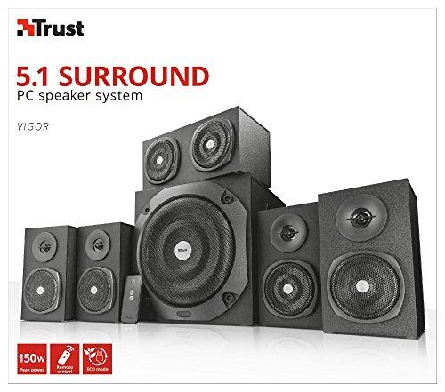 Trust Vigor 5.1 Surround Lautsprecher Set (mit Fernbedienung, 150 Watt) schwarz - 7