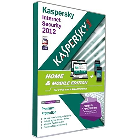 Kaspersky Lab Internet Security 2012 Home & Mobile Edition - Seguridad y antivirus (Caja, Base, 2 usuario(s), 780 MB, 512 MB, 800 MHz)