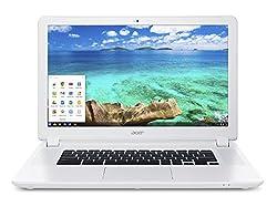 Acer Chromebook 15 CB5-571 15.6-Inch Notebook - (White) (Intel Celeron processor 3205U, 4 GB RAM, 32 GB eMMC, Chrome OS)