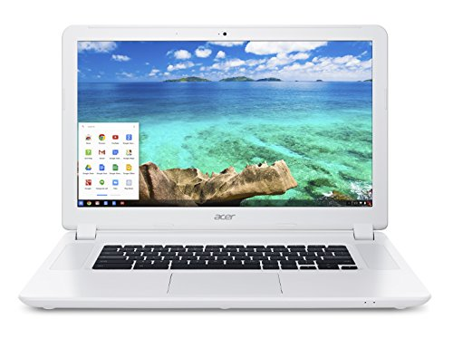 Acer Chromebook 15 CB5-571 15.6-Inch Notebook - (White) (Intel Celeron processor 3205U, 4 GB RAM, 32 GB eMMC, Chrome OS)
