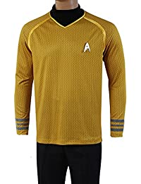 Fuman Star Trek Uniform Captain Kirk Shirt Cosplay Kostüm Gelb