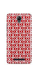 Casenation Red Hearts Pattern Xiaomi Redmi Note 2 Glossy Case
