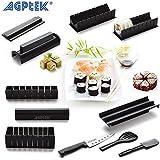 AGPtek Kit de Moule à faire Sushi et Roll de Riz DIY Cuisine Simple Set de Moule à Couper Roll