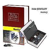 Handsome Diccionario Secreto Libro Escondido Safe con Key Lock libro en rojo pequeño