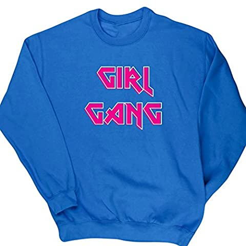 HippoWarehouse Girl Gang Rock Chick unisex jumper sweatshirt pullover