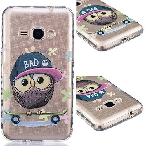 GrandEver TPU Cover per Samsung Galaxy J5(2016), UltraSlim Trasparente Morbido Gel Silicone Custodia Flexible Soft Protettivo Anti-graffio Case Copertura Disegno Bella - Cappello Owl