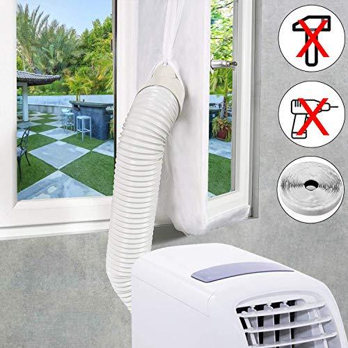 EXTSUD weiße Fensterabdichtung für Mobile Klimaanlage, Klimageräte, Abluft- und Wäschetrockner AirLock zum Anbringen an Fenster, Dachfenster, Flügelfenster (4M)