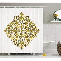Cortina de Ducha fractal con diseño oriental