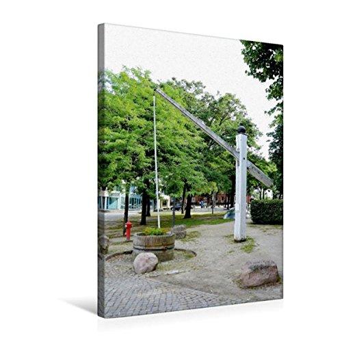 Premium Textil-Leinwand 50 cm x 75 cm hoch, Hungerbrunnen - Achim | Wandbild, Bild auf Keilrahmen, Fertigbild auf echter Leinwand, Leinwanddruck (CALVENDO Orte)