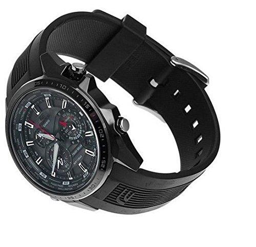 500c Resina Edifice Casio CuarzoCorrea Color Negro Eqs 1a1er De 3R45AjL