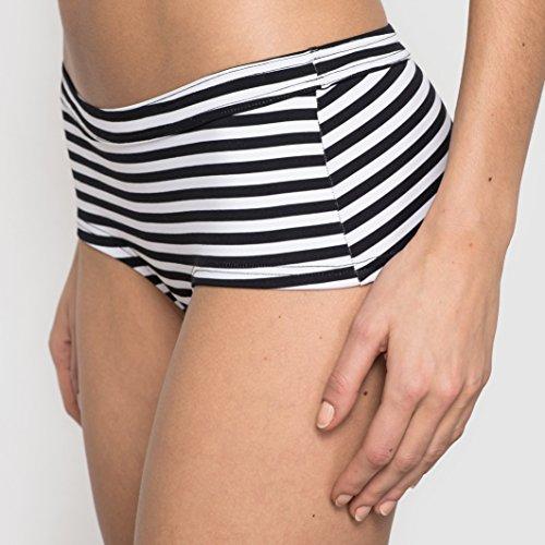 R Edition Frau Bikinishorty, Gestreift Weiss + gestreift