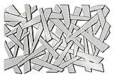DEKOARTE Moderner Wandspiegel zur Dekoration mit unregelmäßigen Formen (Silber, 120x80 cm)