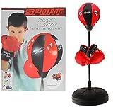 Kinder Punchingball mit Boxhandschuhen - Standbox Trainer höhenverstellbar - Standing Punching Ball - Boxtrainer für Kinder