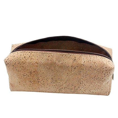 boshiho Umweltfreundlich Pen Tasche Bleistift Fall Makeup-Tasche Storage Student Schreibwaren Pouch Tasche Fall Reißverschluss Brieftasche Vegan Geschenk (Kork-futter)