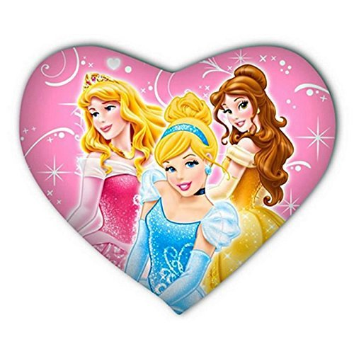 Disney Prinzessin Kissen in Herzform [37x30 cm] (Disney Prinzessin Kissen)
