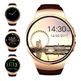 Evershop Bluetooth Smart Watch 1.3 inches IPS Round Touch Screen Smartwatch Phone with SIM...