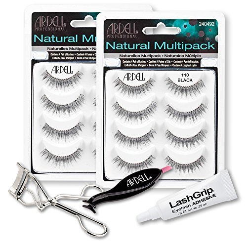 78717ad9ca2 Ardell Fake Eyelashes Value Pack - Natural Multipack 110 (Black, 2-Pack)
