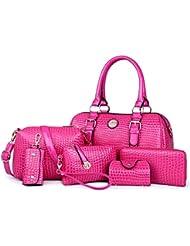 X&L Líneas de MS Moda bolsos piedra 6 piezas multi-color bolso , rose red