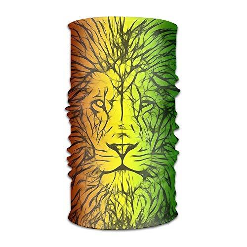 Nifdhkw Rasta Lion Women Men Popular Headwear Bandanas - Multifunctional Headband Sports Magic Scarf for Outdoor Activity New4 Rasta Tam