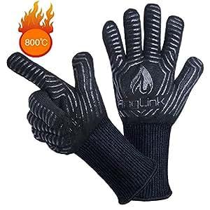 Anglink guanti da barbecue guanti da forno con resistenza al calore fino a 800 c 1 paio guanti - Guanti da cucina ...