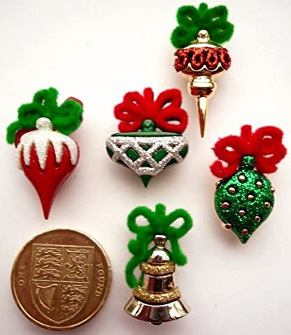Dress It Up Christmas Ornaments - Novelty Craft Embellishments & Buttons