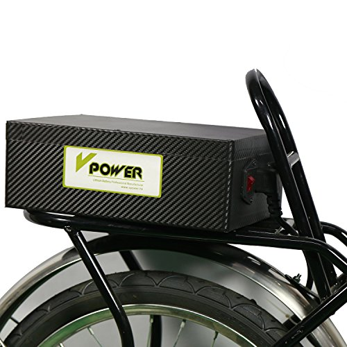 vpower.hk Electric Bike 24V 10AH Lithium Battery + Charger LI-ION E-bike Scooter Battery